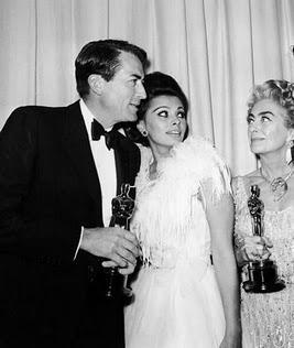 Gregory Peck, Sophia  Loren, Joan Crawford