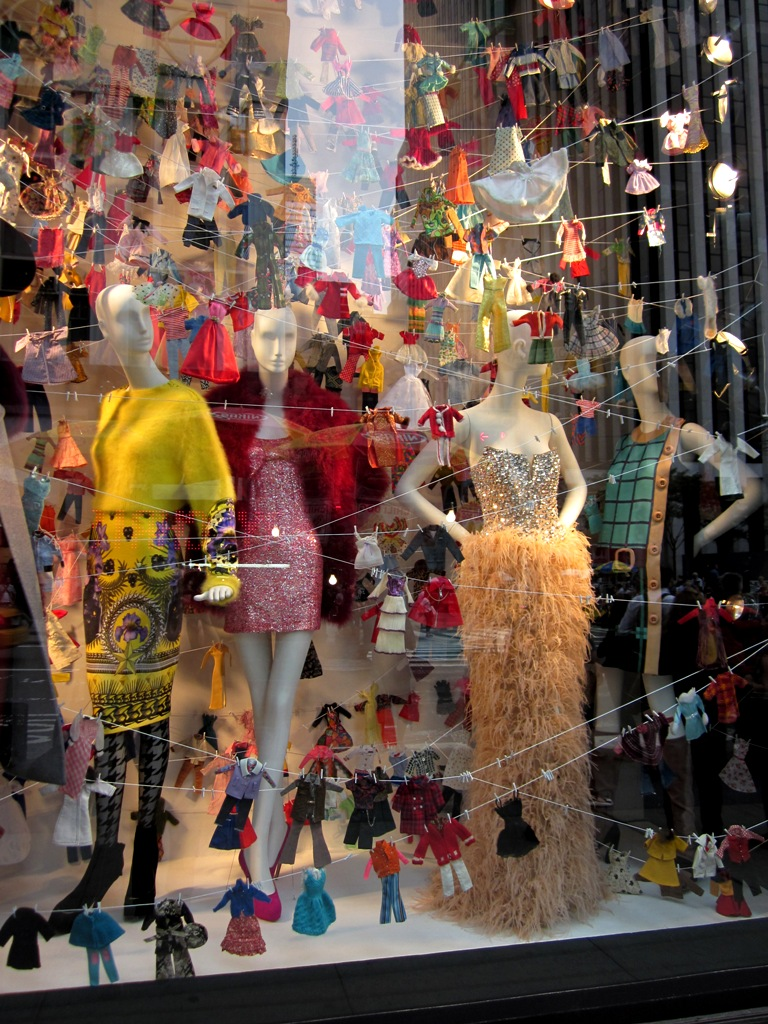 Bergdorf window - doll clothes